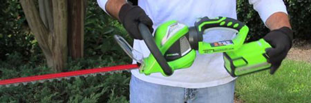 Photo of Eco_friendly Hedge Trimmer used by Blue Claw Landscaping